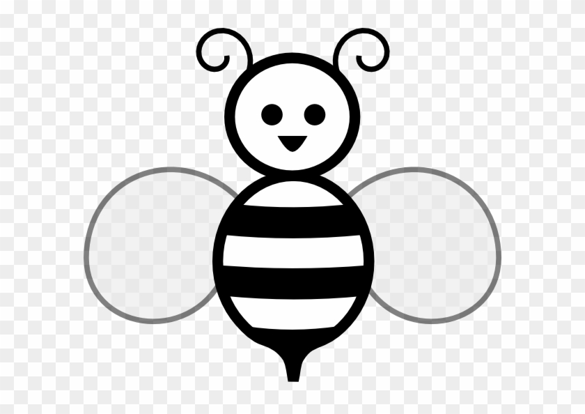 Black And White Bee Clip Art At Clker.