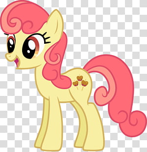 Apple Bumpkin (Apple Family Collab), pink and yellow pony.