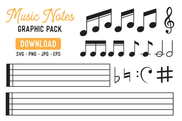 Music Note Clipart Bundle.