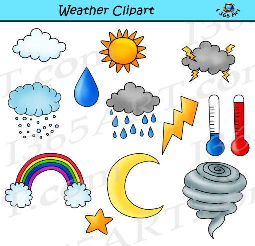 Weather Clipart Bundle.