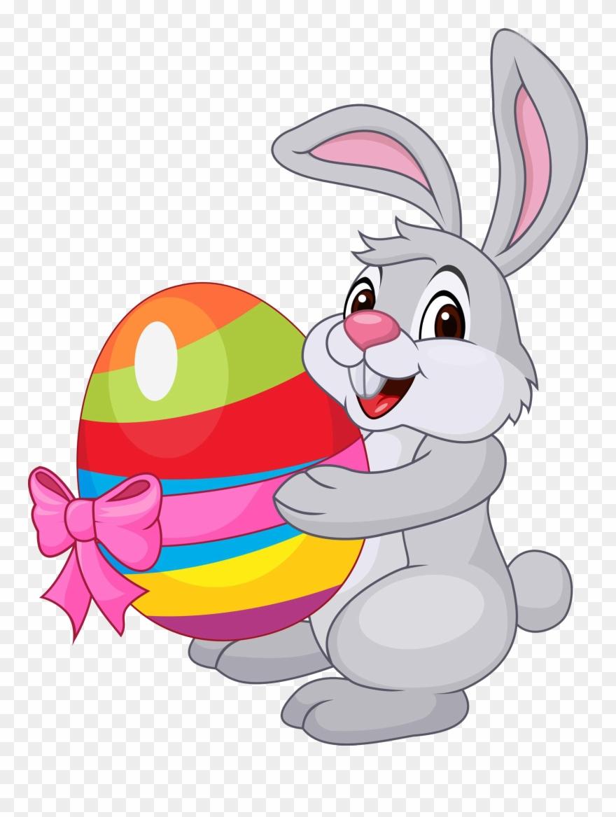 Easter Bunny Easter Egg Rabbit Clipart (#2402052).