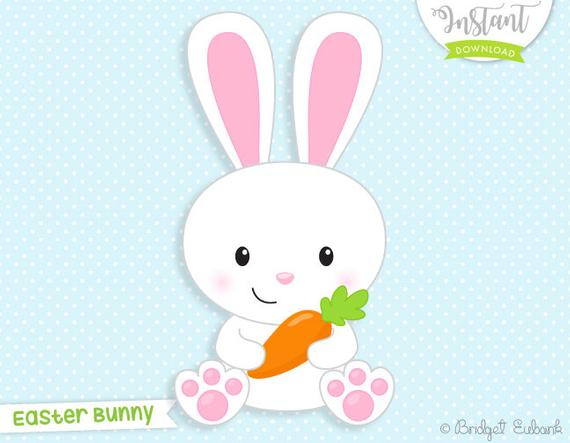 Bunny clipart, Easter clipart, Easter bunny clipart, carrot clipart, bunny,  rabbit clipart, baby bunny, Commercial Use, INSTANT DOWNLOAD.