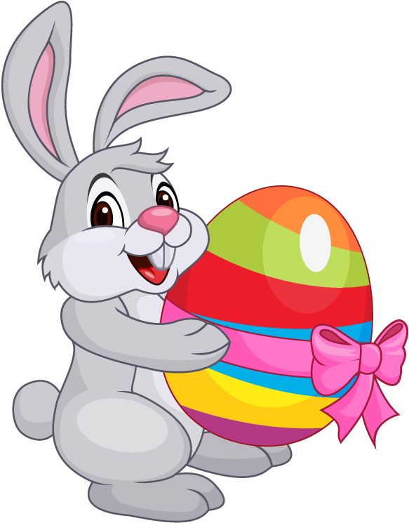 HD Cartoon Easter Bunny.