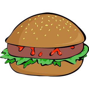 Burger 4 clipart, cliparts of Burger 4 free download (wmf, eps, emf.