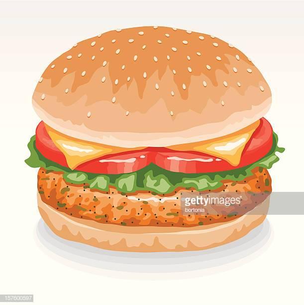 60 Top Veggie Burger Stock Illustrations, Clip art, Cartoons.