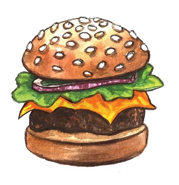 Best Slider Burger Illustrations, Royalty.