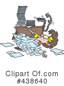Buried In Paperwork Clipart #1.