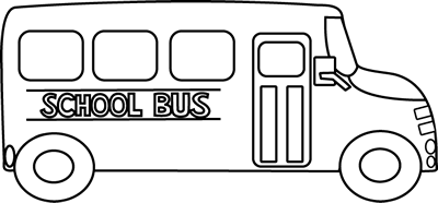 150 Bus Black And White free clipart.