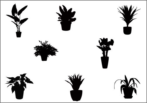 Clipart Bushes Silhouette Clipground