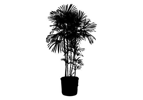 Potted Plants Silhouette Vector for free download. Here it is a.