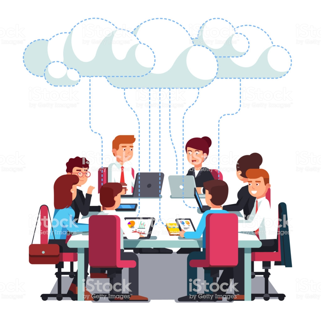 Business Team Working On It Startup Business Flat Vector Clipart.