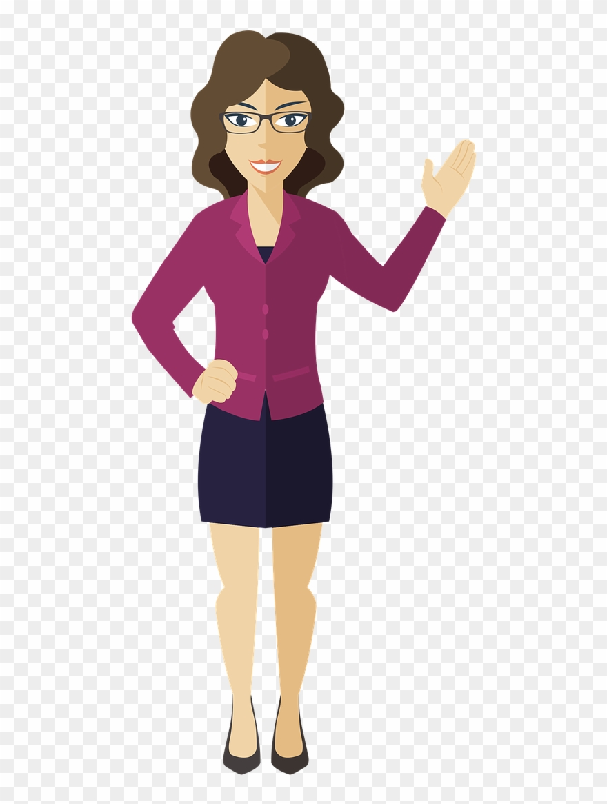 Woman Presentation Business Woman Png Image.