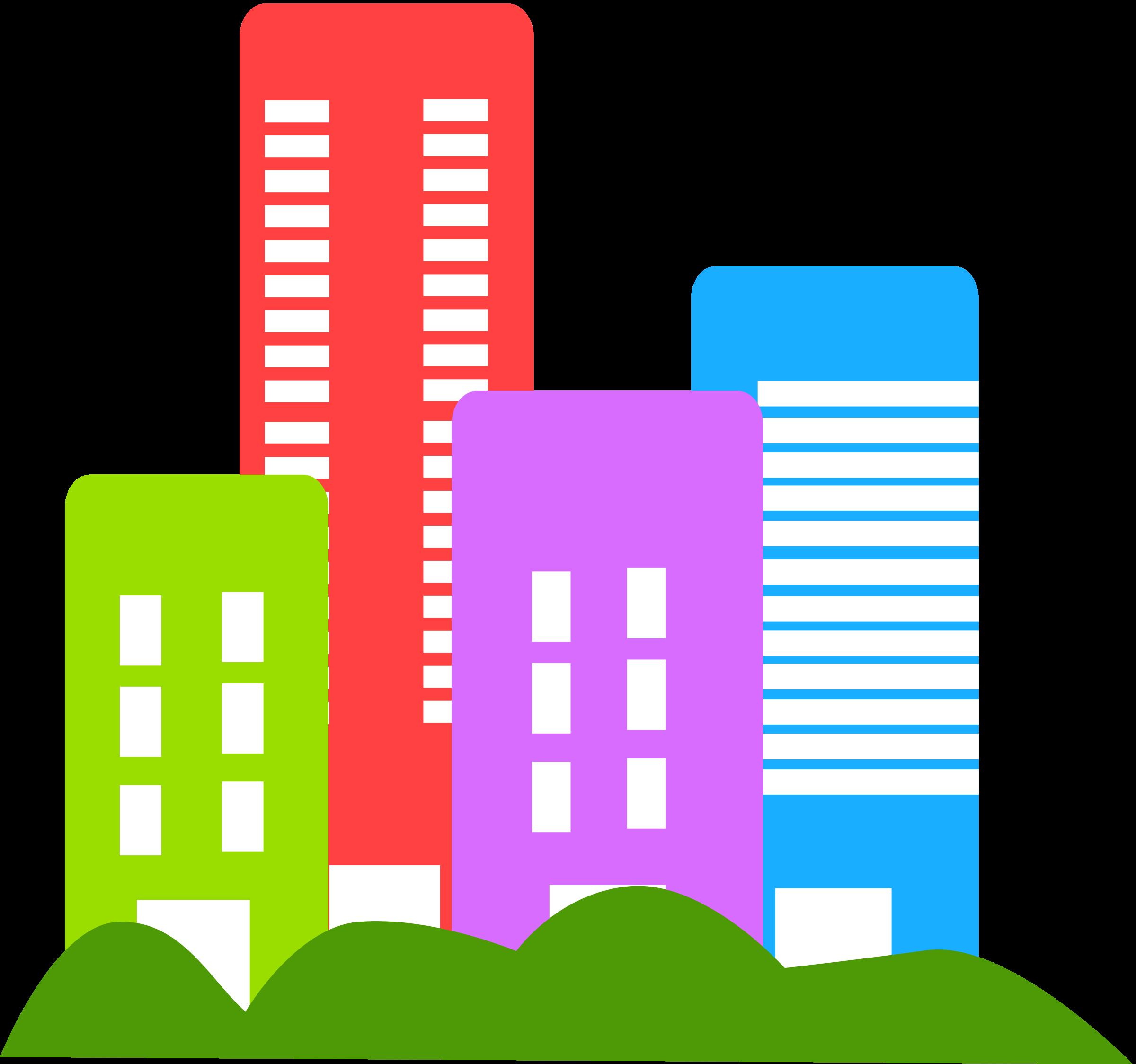 Businesses Buildings Clipart.