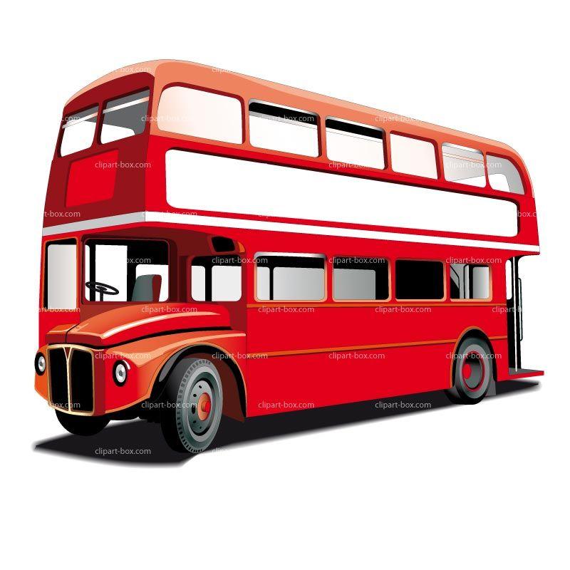 CLIPART DOUBLE DECKER BUS.