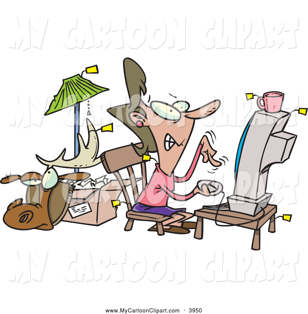 Showing post & media for Cartoon busy woman clip art.