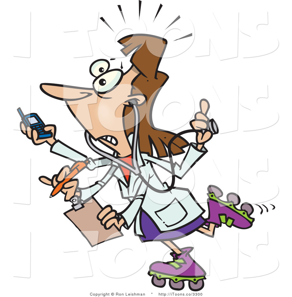 Busy Woman On The Go Clipart.