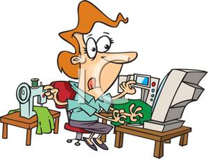Clipart Busy Woman.