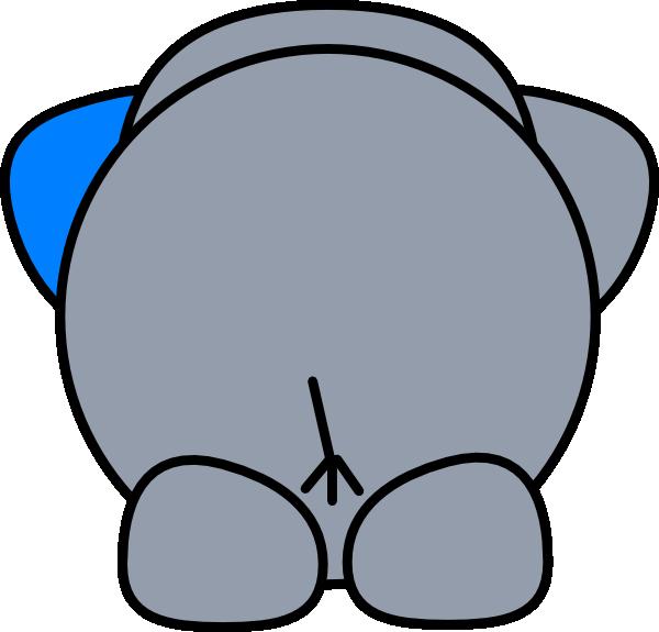 Elephant Butt Clip Art at Clker.com.