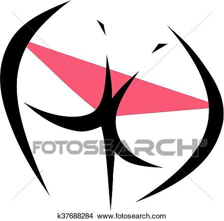 Sexy woman's butt Clipart.