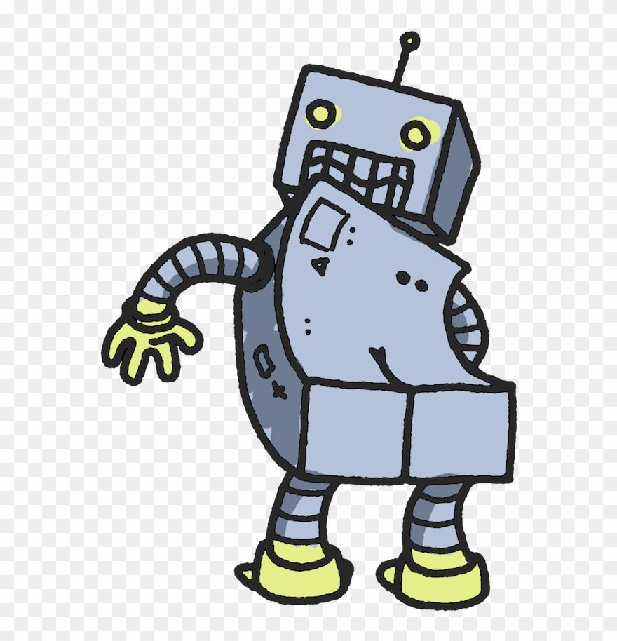 Robot Butt Clipart (#881371).