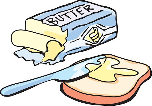 Butter and Bread premium clipart.