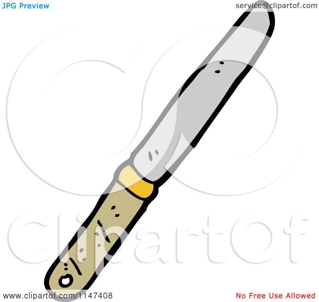 Cartoon of a Butter Knife.
