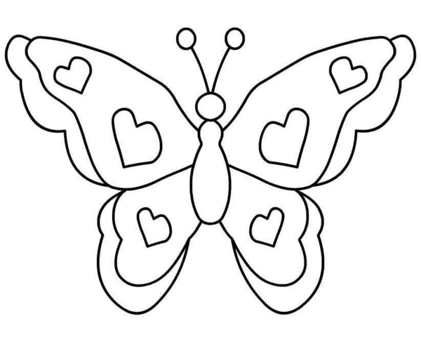 194 Butterfly Black And White free clipart.