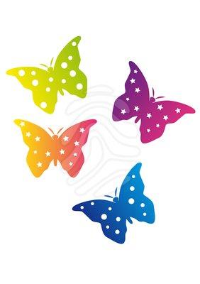 Clip art: Color Butterflies.