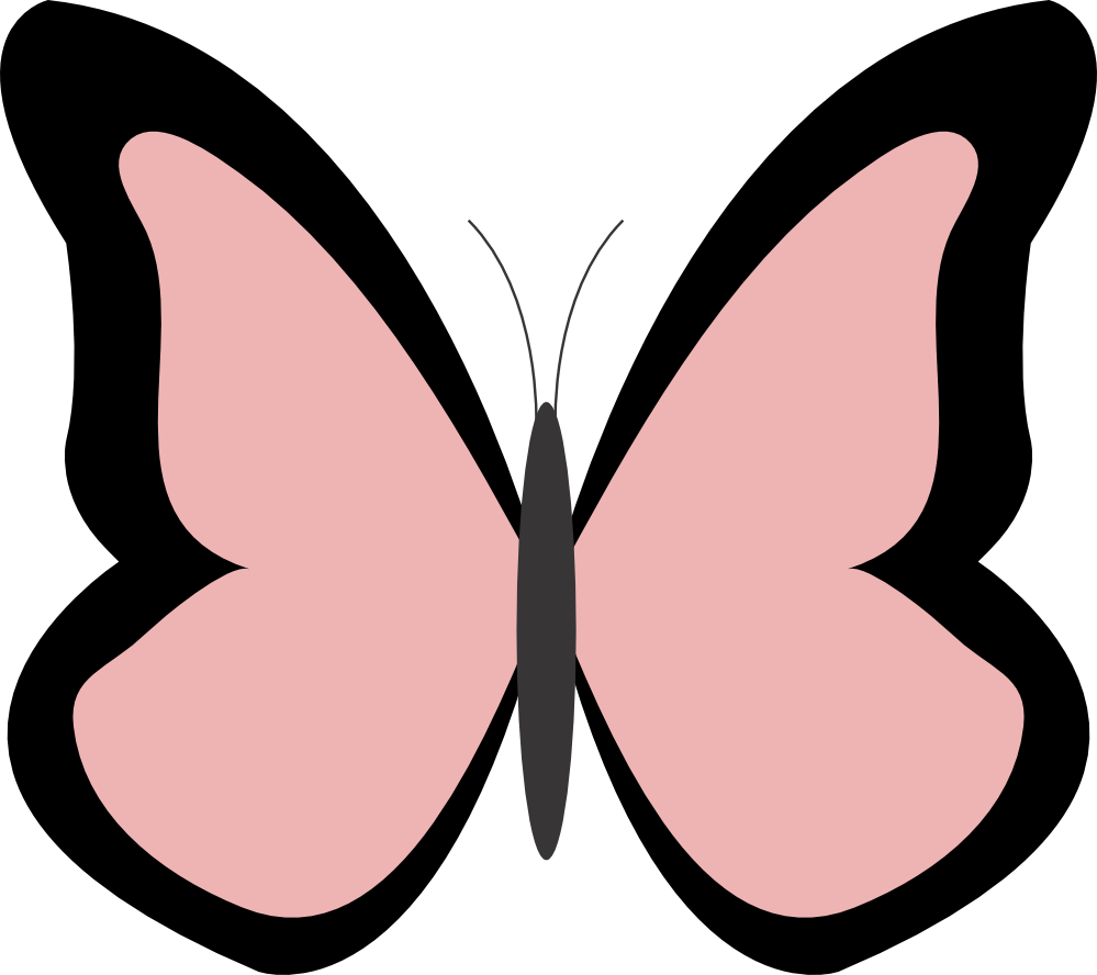 clipartist.net » Clip Art » butterfly color colour rosy brown.