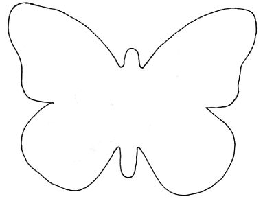 Butterfly outline clipart 1 » Clipart Station.