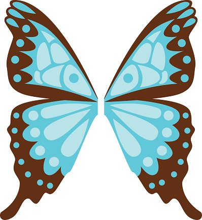 Butterfly Wings Isolated Vector Illustration premium clipart.