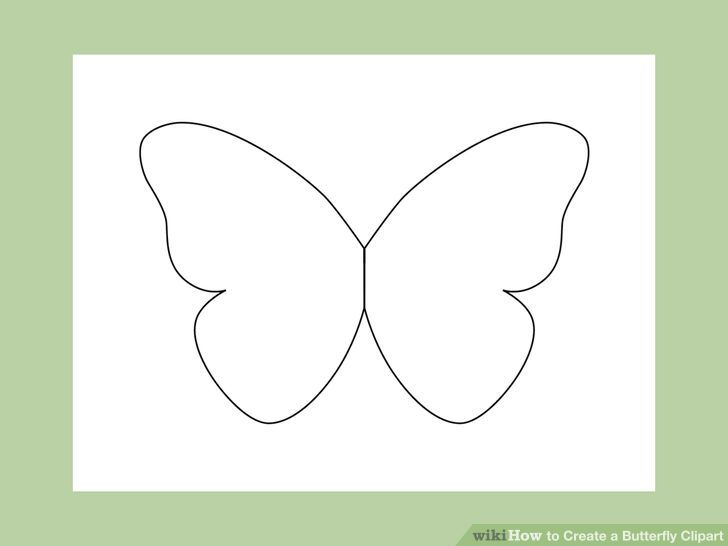 Putting on butterfly wings clipart.