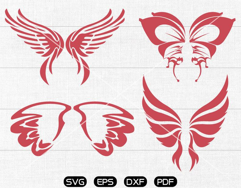 Butterfly wings SVG, Butterfly wings Clipart, cricut, silhouette cut files  commercial use.