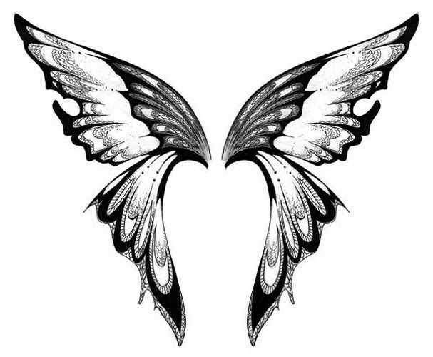 Butterfly wings clipart black and white 1 » Clipart Portal.