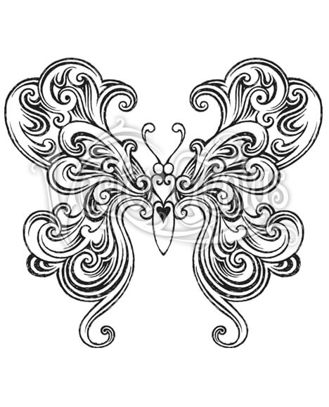 Pretty Tattoo Butterfly Wings ClipArt.