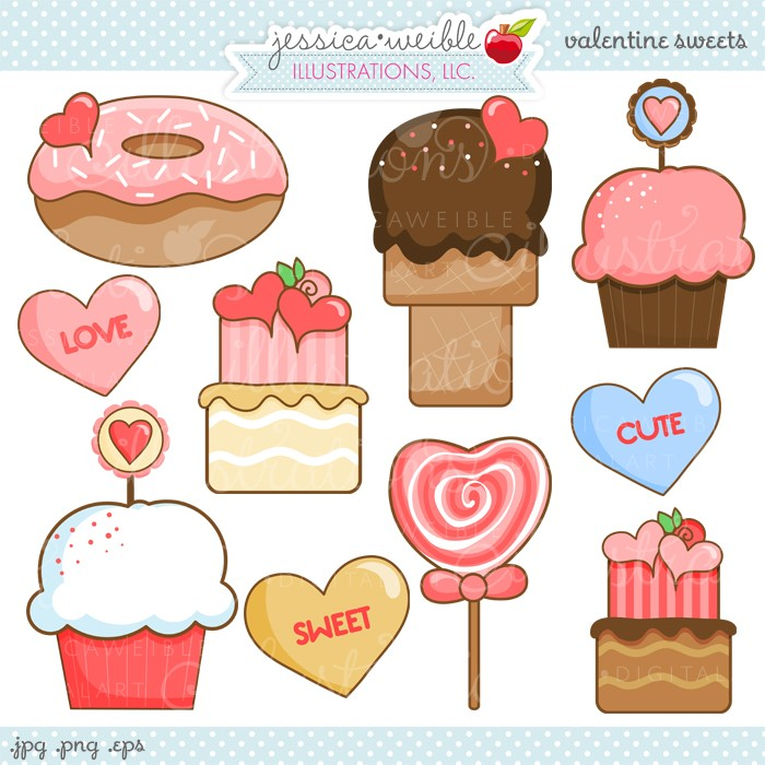 Valentine Sweets Clipart.