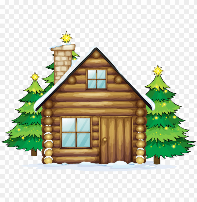 image transparent stock log cabin clipart.