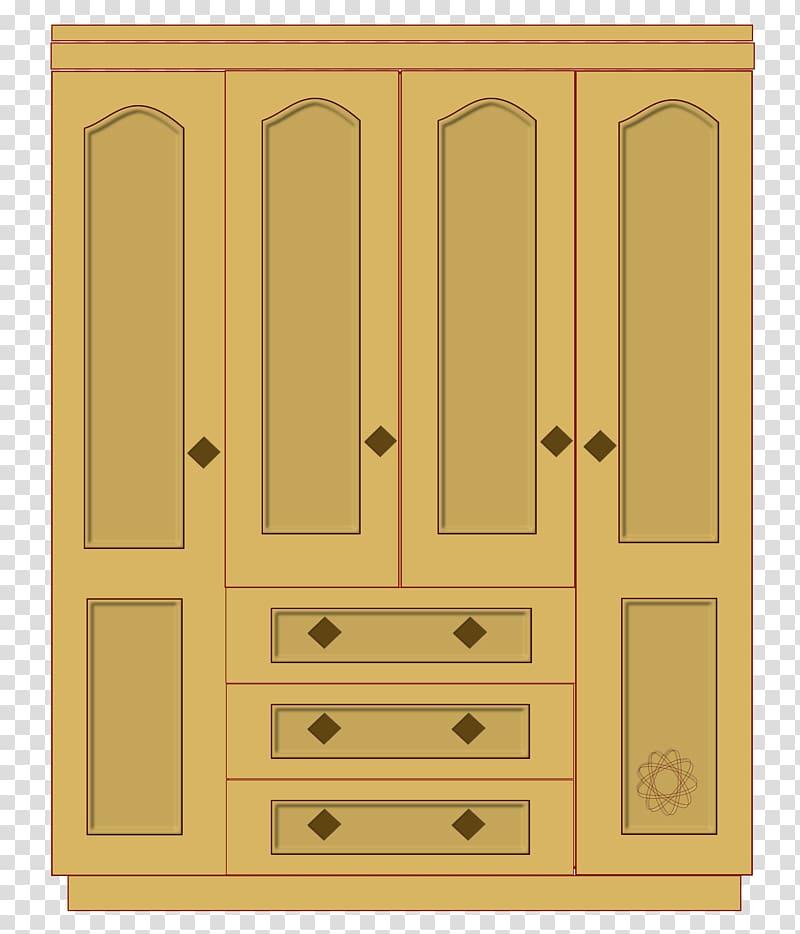Wardrobe Closet , Wood Cabinet transparent background PNG.