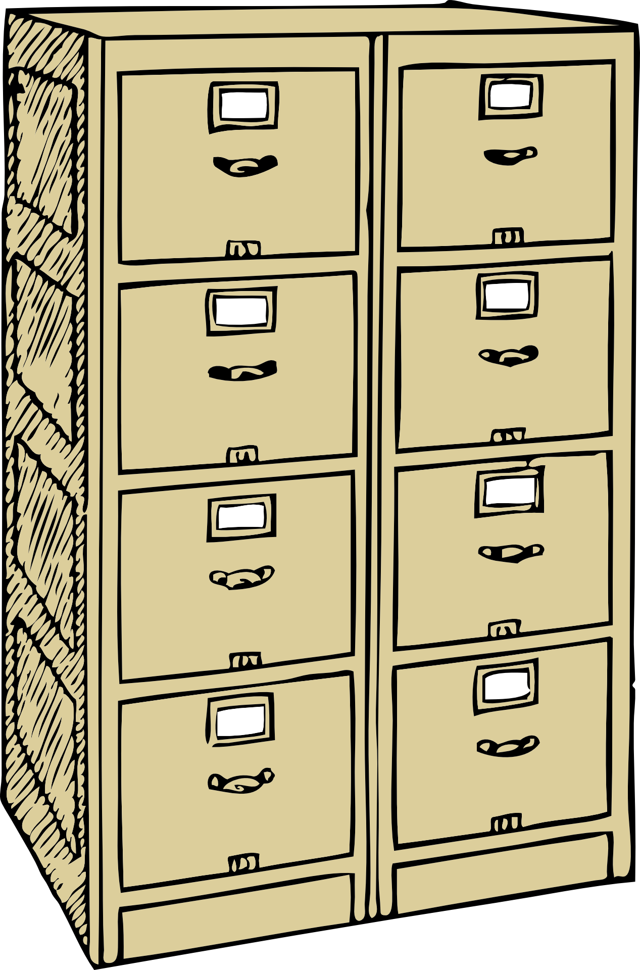 Clipart of filing cabinets free image.
