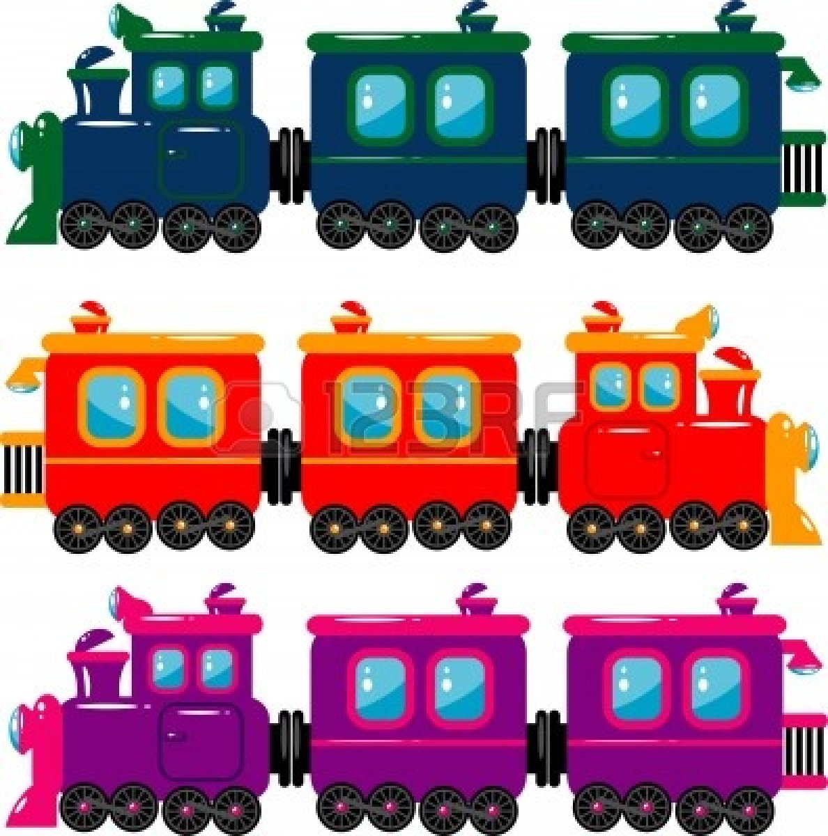 Train Engine And Caboose Clipart.