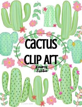 FREEBIE Watercolor Cactus Clip Art.