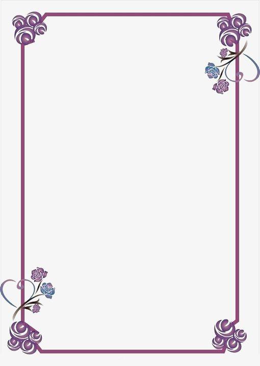 Le Cadre Photo, Les Fleurs, Violet, Cadre Photo Fichier PNG.