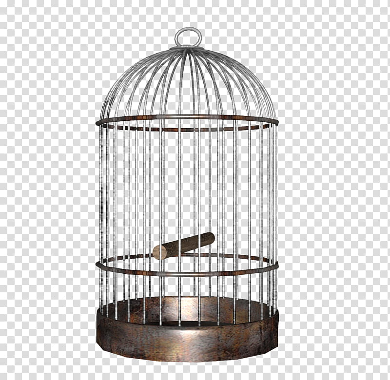 Gray metal bird cage transparent background PNG clipart.