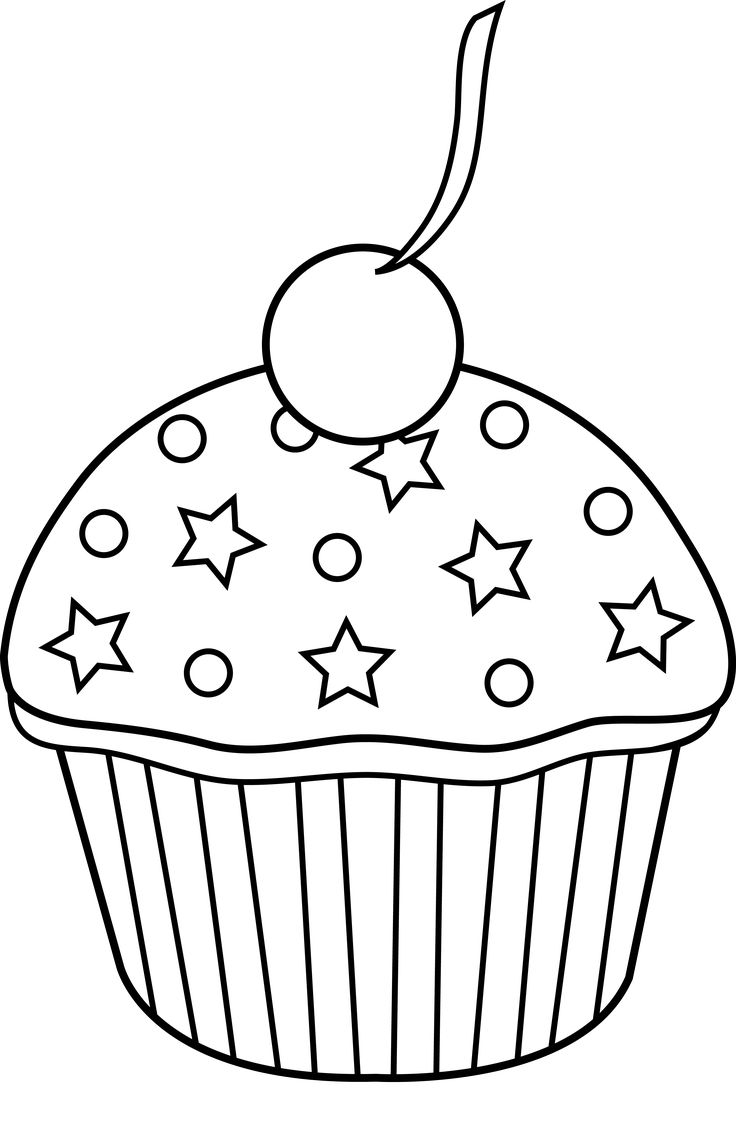 Cake Clipart Black And White Group (+), HD Clipart.