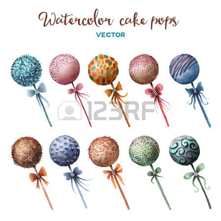 1,050 Cake Pop Stock Vector Illustration And Royalty Free Cake Pop.