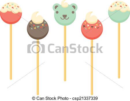 Vectors of Cake Pops.