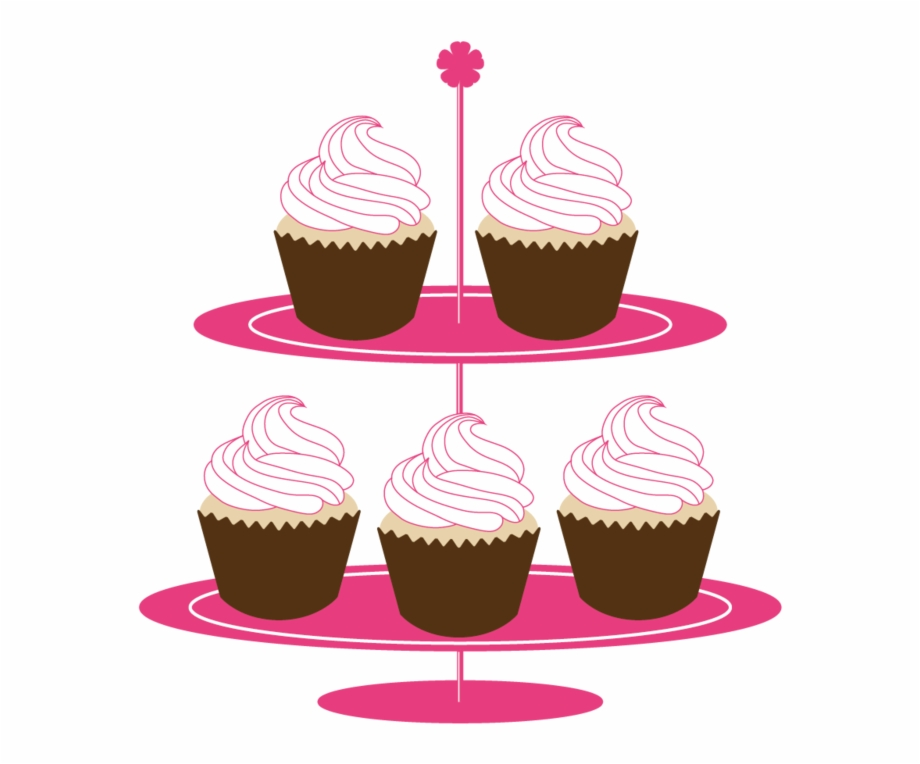 Cake Stand Cupcakes On Stand Clipart.
