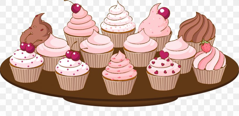 Cakes And Cupcakes Muffin Bakery Clip Art, PNG, 1421x689px.