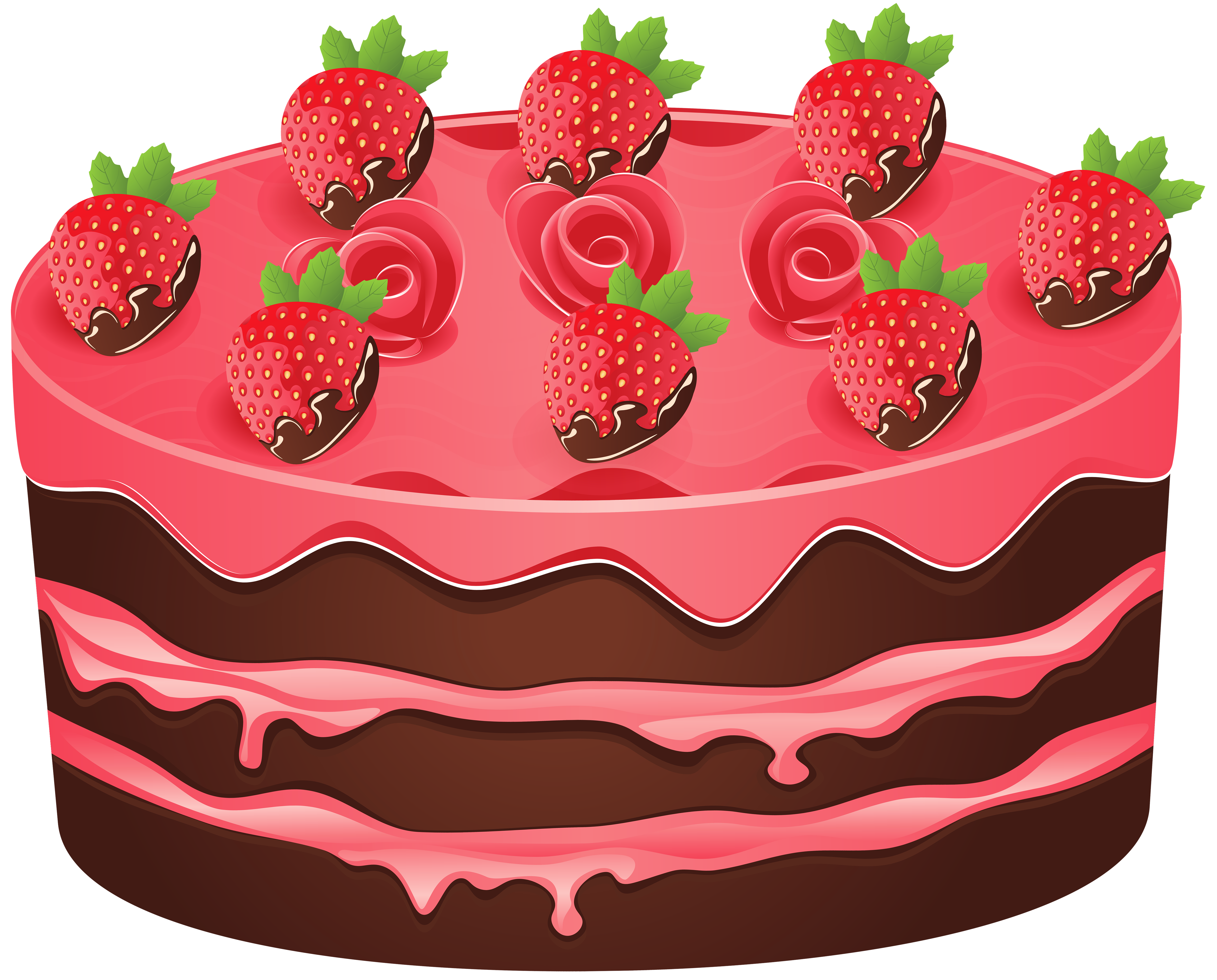 Strawberry Cake PNG Clipart Image.