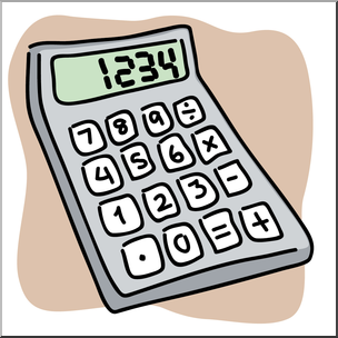 Clip Art: Calculator Color I abcteach.com.